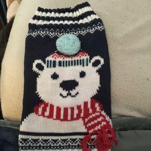 🌈 Pup Crew Dog Sweater Polar Bear